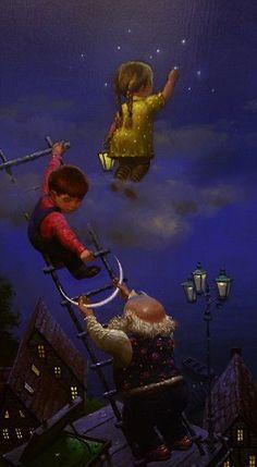 Nizovtsev - Old Man, Children, & the Moon