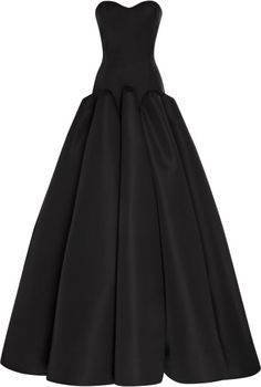Silk Faille Strapless Gown - Lyst