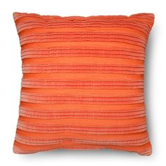 Liven up your home with the Pleated Textured Toss Pillow from Threshold. This pillow will give any room a bit of oomph and add a dose of sophisticated style. It has a pleated cover and is specially crafted for comfort and style. Toss this on your sofa, bed or fave vintage chair for a look that's effortlessly chic.