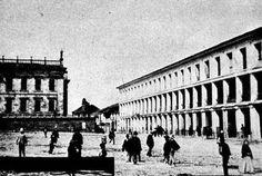 Las Galerías Arrubla en Bogotá, después del incendio en 1900 se construiría el Palacio Liévano foto fin sXIX