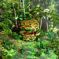 Op het broodje de Apocalypse Now Burger, met een rundvleesburger, zit augurk, ui, azijn, noten en geconcentreerde granaatappelsiroop.
