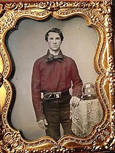 C1850S Early Fireman Beautiful Hand Tinted Ruby Ambro of Handsome Firefighter | eBay