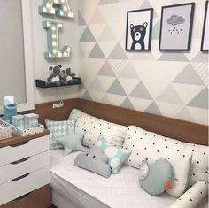 baby boy and girl nursey room - David Setyawan Baby Boys, Baby Boy Rooms, Baby Bedroom, Girls Bedroom, Conceiving A Boy, Baby Decor, Kids And Parenting, Kids Room, Toddler Bed