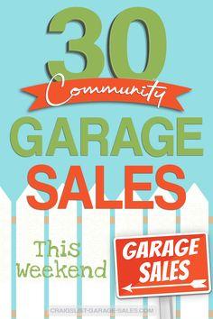 37 Best City Wide Multi Family Neighborhood Garage Sales Images