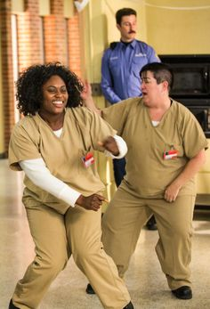 Danielle Brooks & Lea DeLaria in Orange Is the New Black