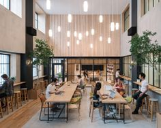 airbnb's tokyo office provides respite from hectic city life – Best Office Architecture Suppose Design Office, Small Office Design, Cool Office Space, Office Interior Design, Office Interiors, Airbnb Office, City Office, Cafeteria Design, Innovative Office