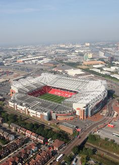 This is a great shot of @manutd's Old Trafford home.