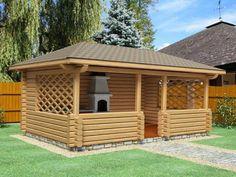 Pergola Ideas For Patio Backyard Gazebo, Patio Roof, Pergola Patio, Backyard Landscaping, Pergola Kits, Pergola Ideas, Wooden Summer House, Garage Building Plans, Wooden Gazebo