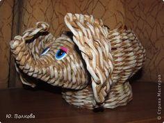 Поделка изделие Плетение По Вашим просьбам СЛОНЯШКА Трубочки бумажные фото 1