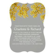 Modern Floral Wedding   Golden Flower Buds