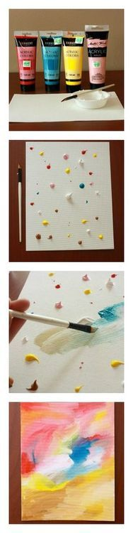 A great way to have kids paint without as much mess