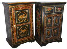 Ethnic work bedside desk for antique looks - product id is PT26089