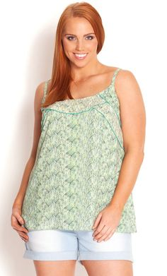 City Chic - FEATHER SORBET TOP - Women's plus size fashion