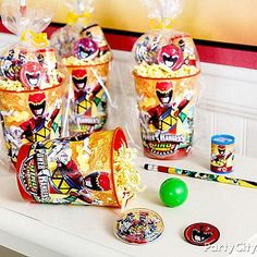 DIY favors with reusable Power Rangers Dino Charge cups and cool toys!