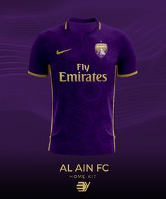 Al Ain FC of the United Arab Emirates home shirt for 2016.