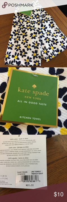 "Kate Spade Kitchen towels Kate Spade ""All in Good Taste"" 2 Kitchen Towels kate spade Accessories"
