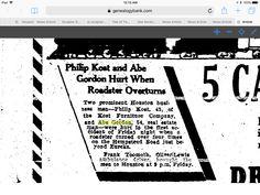 Abe Gordon Houston Chronicle 11/22/1931 Houston, TexasPage:   27