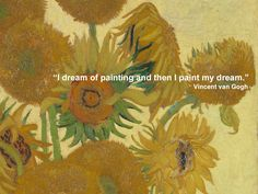 #Sunflowers is one of four paintings of sunflowers by Vincent Van Gogh which were intended to decorate Gauguin's room. #NGArtBouquet #Bouquet #Flowers #Florist #Quotes #Art