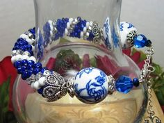 If You Can Crochet A Slip Stitch - You Can Make This Beautiful Tubular Bead Crochet Bracelet - YouTube