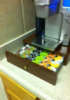 Drawer for storing K-Cups for Keurig coffee machines