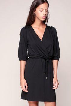 Pencil dresses - 4rosie_rosie - Black - Sessun Mi Long, Wrap Dress, Fashion Looks, Pencil Dresses, Black, Winter, Style, Belted Dress, Spring Summer