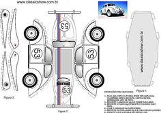 Fusca Herbie: Faça seu próprio Herbie de Papel