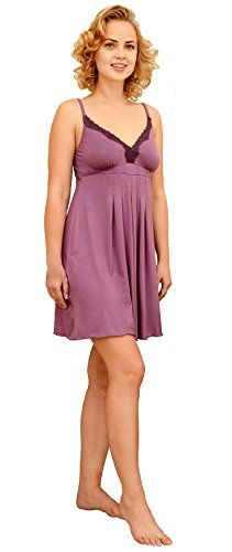 NEW Luxury Maternity Nursing Nightdress Nightie with Drop Down Clip and Side Opening For Breast Pads Asin: B016J0I8SA Ean: 5055926411275