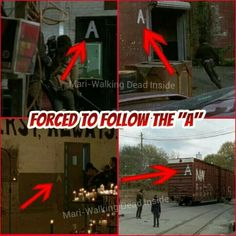 me and my brother were noticing that! there was like, six A'S in the episode! its going pretty little liars.. hah.. but idk its weird, and did you notice in the room with the names there was an item in front of each name?! CREEPY. Like, a doll, a guitar, a backpack... ect.