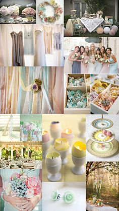 Color Day: Passion for Pastels | The SweetNest  Spring Pastel Easter Wedding Inspiration Board
