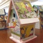 Birdhouse made by a 6th grader at Tenacre Country Day School in Wellesley, MA using Chrysanthemum by Kevin Henkes