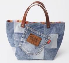 Resultado de imagem para bolsa de jeans