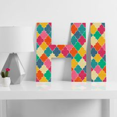 Jacqueline Maldonado Morocco Bright Decorative Letters | DENY Designs Home Accessories #denyholiday Coupon code SAY50 for 50% off!!