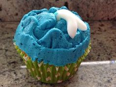 """Photo: At the Northern Beaches Writers' Group end-of-year party and Madi baked some awesome """"A Dolphin for Naia"""" cupcakes. I just had one, yum!!!"""