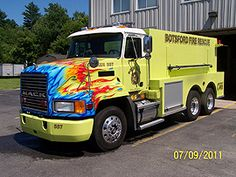 Botsford Fire Rescue - took a nice water tanker and wrecked it with gay flames...