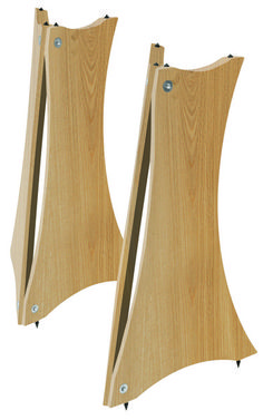 EQ Acoustics Quadraspire SV60 Wooden Isolation Speaker Stand