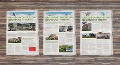 Serie informatiepagina's voor Nationaal Landschap Noordoost-Twente