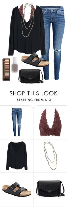 """OOTD"" by prep-lover1 ❤ liked on Polyvore featuring Charlotte Russe, H&M, Birkenstock, Essie and Urban Decay"