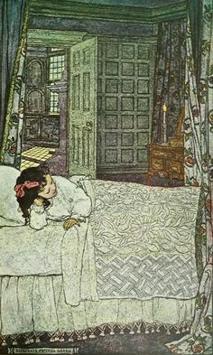 'Candle-light.' Illustration by Elizabeth Shippen Green from 'The Book of the Little Past' by Josephine Preston Peabody. 1910