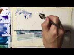 How to paint Ocean Shore Waves in Juicy Watercolors: by Chris Petri