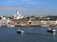 Helsinki is the capital of Finland. It is an old city but with modern renovations. Helsinki was established in the century and became the capital of Finland in. City Wallpaper, Widescreen Wallpaper, Wallpaper Gallery, Wallpapers, Finland Travel, Europe Holidays, Harbor View, Landscape Wallpaper, Landscape Background