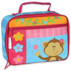 Girl Monkey Lunch Box made by Stephen Joseph! I ADORE IT!!! SO CUTE! (I'd like 2 have 1 4 myself!) & YES, I WUD CARRY IT AROUND EVEN THO IM 23YRS OLD!