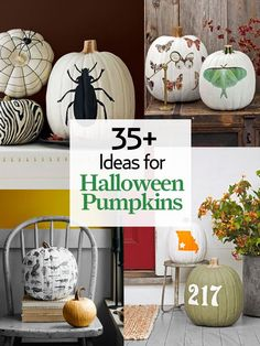 DIY-36 favorite ideas for carving, decorating, and displaying your prized pumpkin this Halloween !