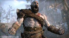 Kratos Screaming God of War 4 Wallpaper