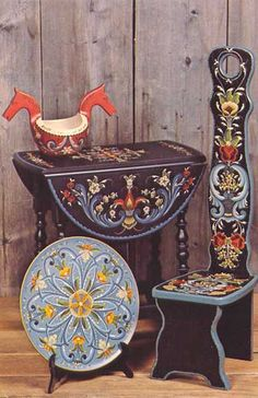 POSTCARDY: the postcard explorer: PFF - Wisconsin Rosemaling Exhibit