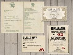 harry potter wedding invitation | via emmalinebride.com | 50+ Greatest Geeky Wedding Ideas of All Time #wedding #HarryPotter #nerdy