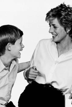 Princess Diana with son Harry