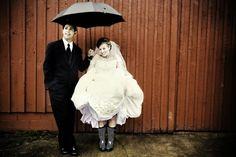 inspirationen für hochzeitsfotos - bei regen