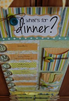 What's for dinner menu board