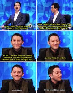 "When not even Jimmy could bring down Jon's mood. | 34 Times ""8 Out Of 10 Cats Does Countdown"" Was Almost Too Funny"