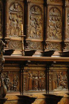Silleria del coro de la catedral de Burgos, Castilla y León, lugares con encanto.